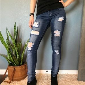 SKYLTON Skinny Jeans Comfort Rise Ripped